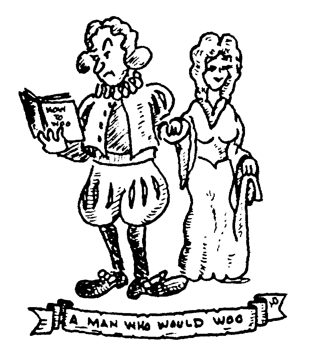 Sketch of A man who would woo