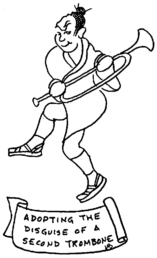 Sketch of Adopting the disguise of a Second Trombone