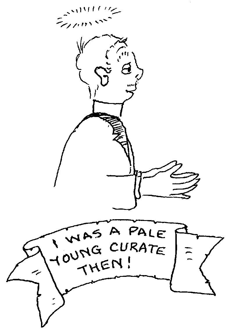 Sketch of I was a pale young curate then