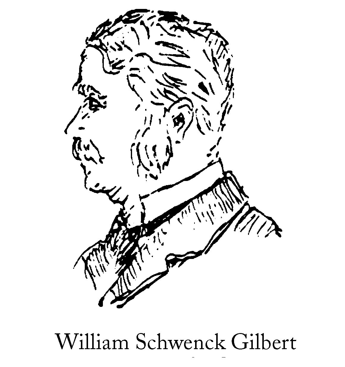 Sketch of Sir William Schwenck Gilbert, 1836 - 1911