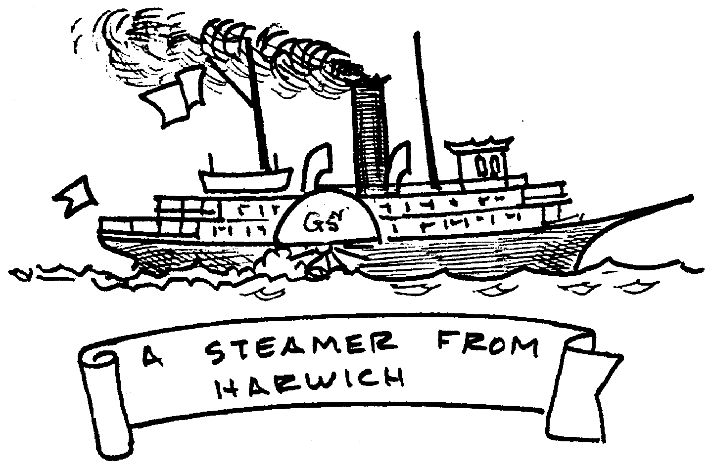 Sketch of A steamer from Harwich