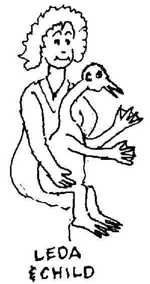 Sketch of Leda and Child