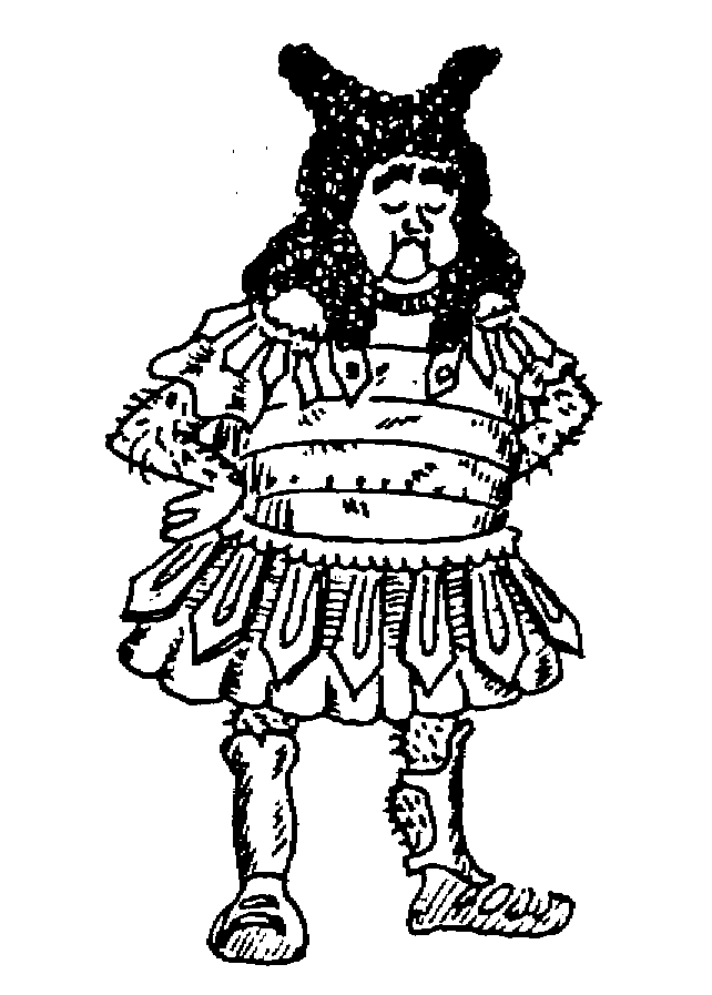 Sketch of Louis Quatorze wig