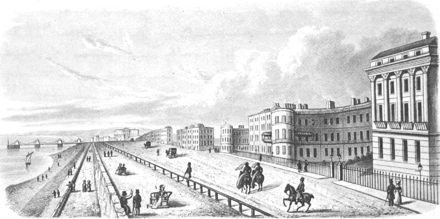 Etching of A marine parade