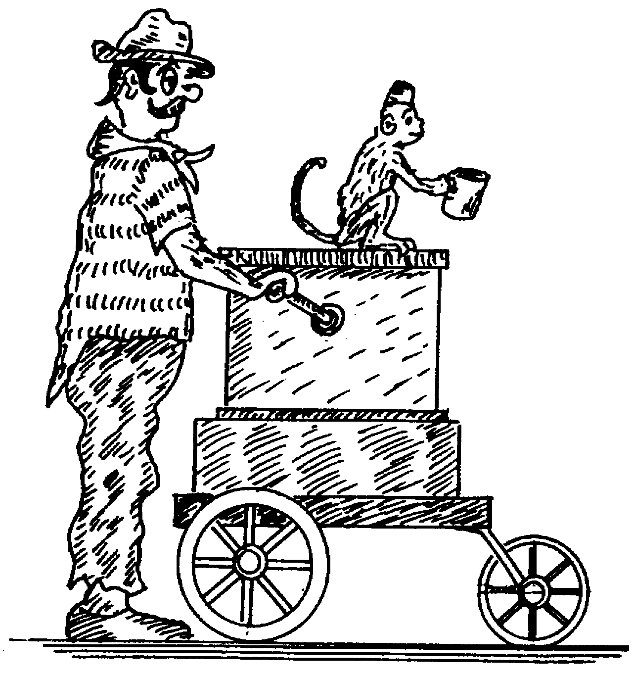 Sketch of Organ grinder
