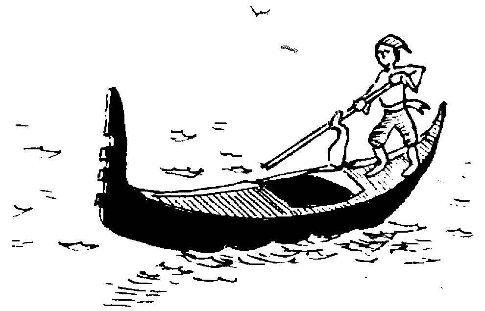 Sketch of Weary lagooning