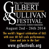 International Gilbert and Sullivan Festival banner for 2014 in Harrogate