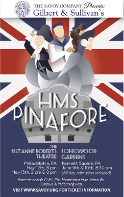 Savoy Company postcard for 2017 HMS Pinafore