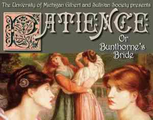 University of Michigan Gilbert & Sullivan Society poster for Patience 2015