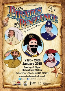 Abbots Langley G&S Poster for Pirates 2015