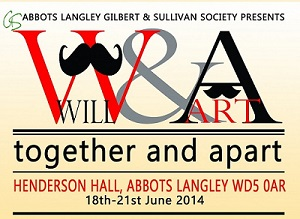 Abbots Langley G&S Poster for Will & Art 2014