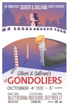 Connecticut G&S Society Gondoliers poster 2014