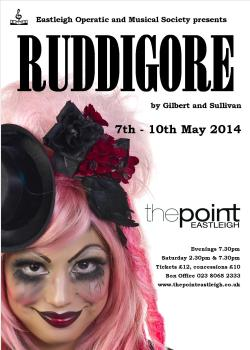 Poster for Ruddigore, EOMS 2014