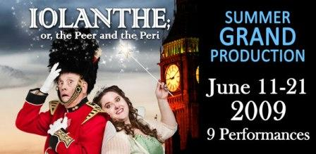The G&S Society of Austin poster for Iolanthe 2009