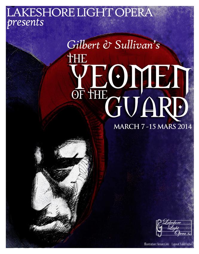 Lakeshore Light Opera poster for Yeomen 2014