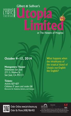 Lyric Theatre of San Jose poster for Utopia Limited 2014