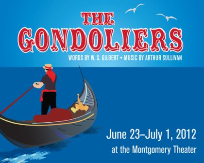 Gondoliers at Lyric poster