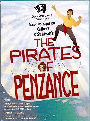 Mason Opera poster for The Pirates of Penzance 2015
