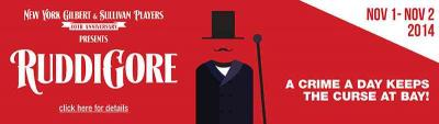 NYGASP banner for Ruddigore, 2014