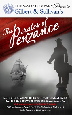 The Savoy Company poster for The Pirates of Penzance, 2016