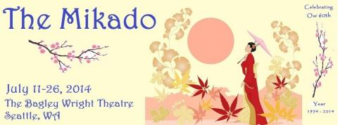 Mikado poster for Seattle G&S Society 2014