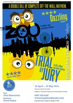 Poster for Trial by Jury and The Zoo at Charles Court Opera, 2015