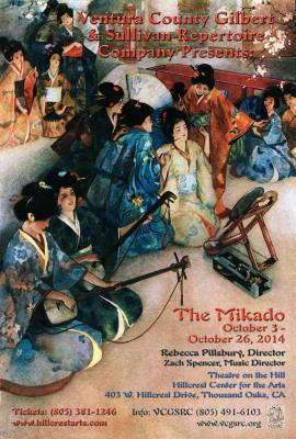 Ventura Country Gilbert and Sullivan Repertory Company poster for Mikado 2014